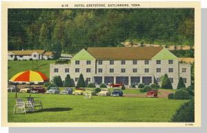 Gatlinburg, Tennessee/TN Postcard, Hotel Greystone, 1950's?