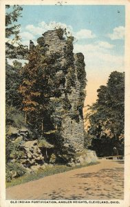 LP34     Cleveland Ohio Ambler Heights Indian Fortification  Postcard