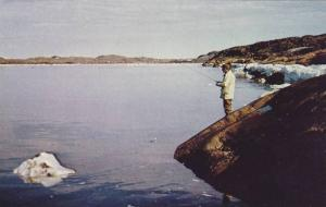 Char Fishing , Sylvia Grinnell River , Frobisher Bay , N.W.T., Canada , 50-60...