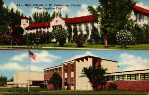 Florida St Petersburg High Schools Curteich