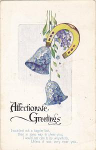 Affectionate Greetings Horseshoe With Blue Bells