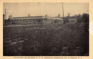 Rahway New Jersey General Hospital Officers Quarters Antique Postcard K34569