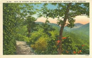 Path to Hickory Nut Falls, Chimney Rock Mountain, Western...