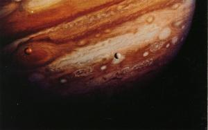 Io and Europa over Great Red Spot - Jupiter (Astronomy)
