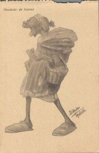 Morocco Caricature Funny Humor 1920´s Vendedor de huevos 04.58