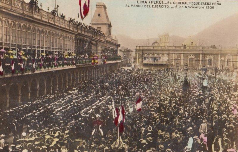 RP : Lima , Peru , 1907 ; El General Roque Sanez Pena