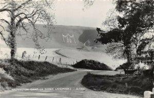 Vintage Real Photo Sussex Postcard, Wilmington Giant EN4