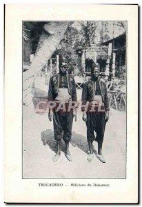 Militiamen Trocadero Old Postcard Dahomey