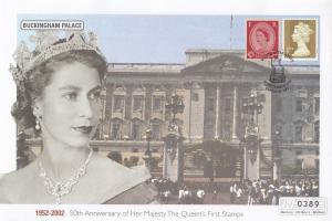 Buckingham Palace Queen Elizabeth II Golden Jubilee Rare Stamp 50th Anniversa...