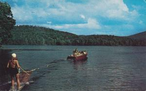 Waterfront View, Water Skiing, Speed Boat, Montmagny, Quebec, Canada, 40-60´s
