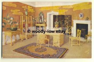 su1490 - Queens Dolls House - Her Majesty's Boudoir - postcard