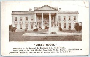 Washington, D.C. Postcard WHITE HOUSE North Front View w/ Fountain c1910s