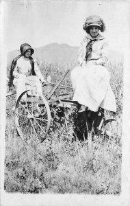 C-1910 Women Agriculture Equipment Great Falls Montana RPPC Photo Postcard 11638