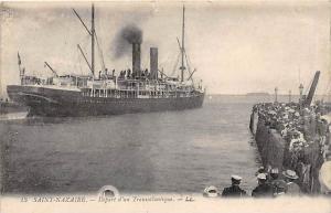 France  Port Saint Nazaire  Steamer leaving Port