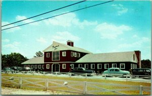 1950s Macon, Georgia Postcard PINE BROOK INN and MOTEL The Red Barn Roadside