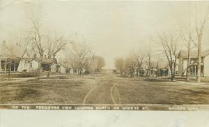 Walker IA 400 Blk of Greene St~One-Story Homes~Hurrah For Pres Taft!~RPPC 1908