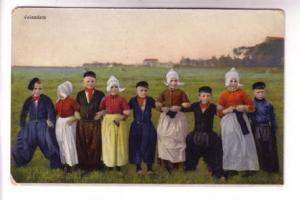 Group of Dutch Children, Volendam, Netherlands, D&N Series 290 - 4462