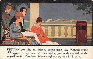 Advertising Post Card Edison, Radio Unused