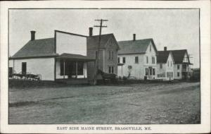 Braggville Maine ME Very Scarce Town East Side Main St. Penobscot County PC