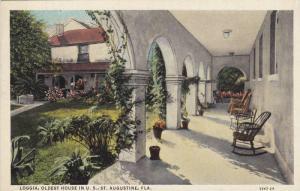 Loggia,Oldest House in U.S. St.Augustine,Florida,00-1 0s