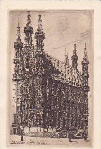 Hotel De Ville, Louvain (Flemish Brabant), Belgium, 1910-1920s