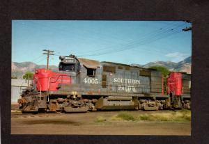 New York Central Railroad Train Locomotive 4005 Bloody nose Alco Postcard