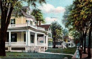 Massachusetts Malden Glimpse Of Summer Street Residence Section 1911
