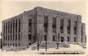 Minot North Dakota Court House Real Photo Antique Postcard K82276