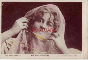 1905 English Victorian and Edwardian actress/singer MISS MARIE STUDHOLME