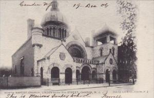 New Jersey Camden North Baptist Church Linden Below 4th Street 1906
