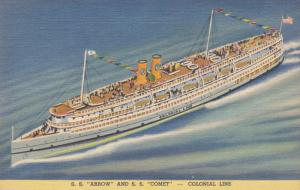 Steamer, S. S. Arrow And S. S. Comet - Colonial Line, PU-1939