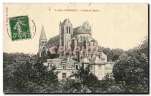 Postcard Old St Leu d Esserent church Apse of I
