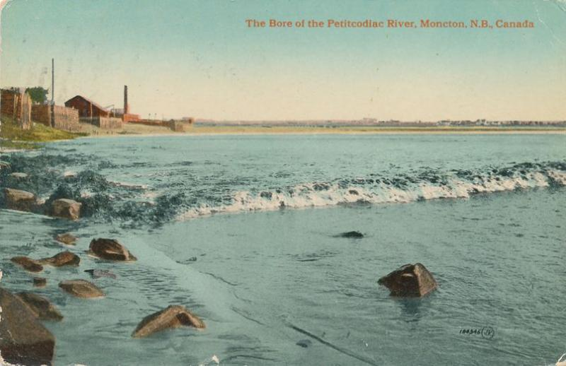 Bore of Petitcodiac River - Moncton NB, New Brunswick, Canada - pm 1915 - DB