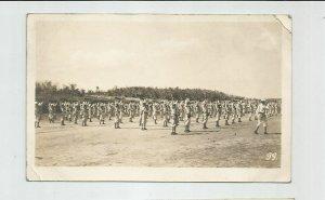 Photo POSTCARD ~ Sailors Drills Rifles  ~US Navy ~ White Fleet ~ Circa 1908 ~ 99