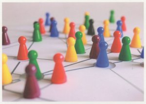 Cluedo Board Game Pieces On Unique Toy Map Chart German Postcard