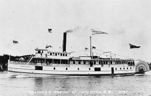 Beatrice E Waring Ferries & Paddle Wheels Ship Unused