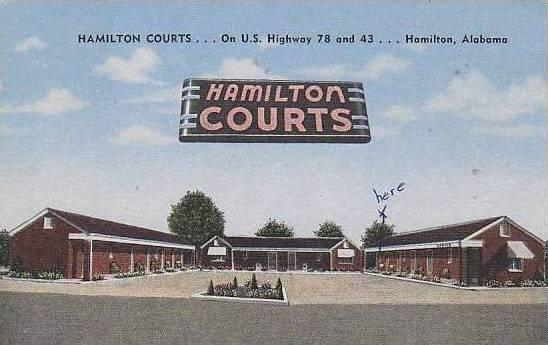 Alabama Hamilton Hamilton Court / HipPostcard