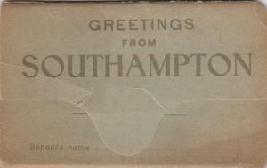 SOUTHAMPTON, Hampshire, England, 1910-20s ; Greetings, Souvenir Folder 12-views
