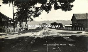 Bismarck Archipelago PNG, RABAUL, New Britain, Entrance to Wharf (1910s) RP