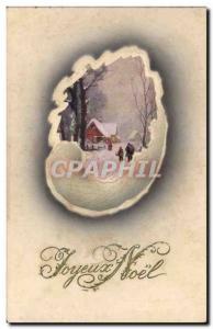 Old Postcard Fantasy Christmas Merry Christmas