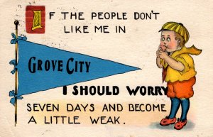 Grove City, Minnesota - If the people don't like me in - posted 1914