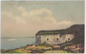 Maine  Portland, The Maine and Missouri off fort scammel