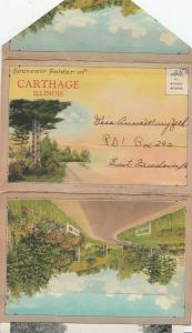 Folder Postcard , CARTHAGE , Illinois ; 1946