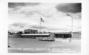 Landgon North Dakota Cavalier Memorial Court House Real Photo Postcard K98608