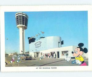 Bent 1960's MICKEY MOUSE - SEAGRAM TOWER Niagara Falls Ontario ON ho5187