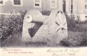 Stone Cannon,Lexington,Massachusetts,PU-1906