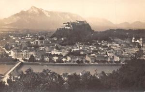 Salzburg von Kapuzinerberg Bruecke Bridge River General view Panorama Pont