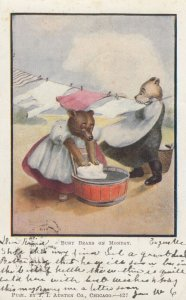 Busy Bears on Monday , Laundry , 1907