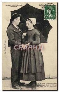 Old Postcard Challans vendee and vicinity Folklore Costume