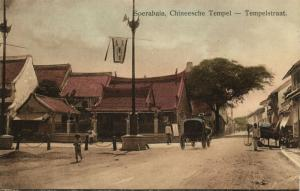 indonesia, JAVA SOERABAIA, Tempelstraat, Chinese Temple (1910s) Postcard